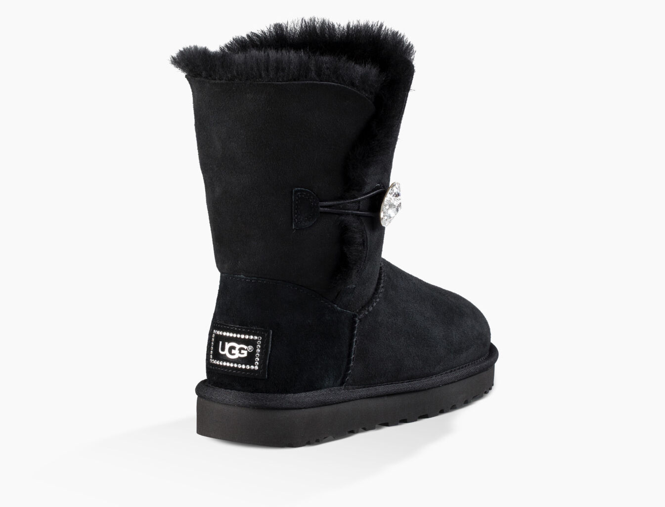 black ugg boots with buttons