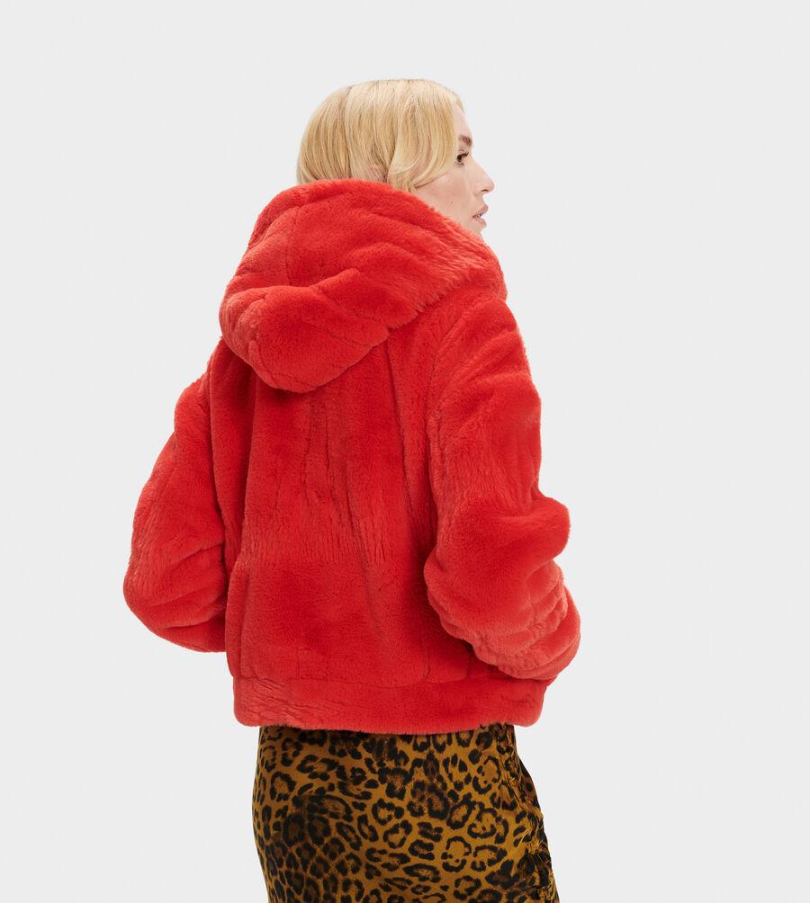 Mandy Faux Fur Hoodie - Image 3 of 5