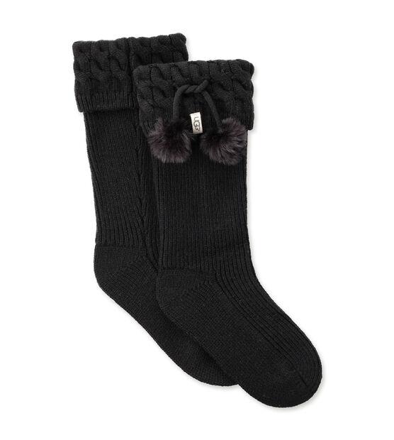 Pom Pom Tall Rainboot Sock