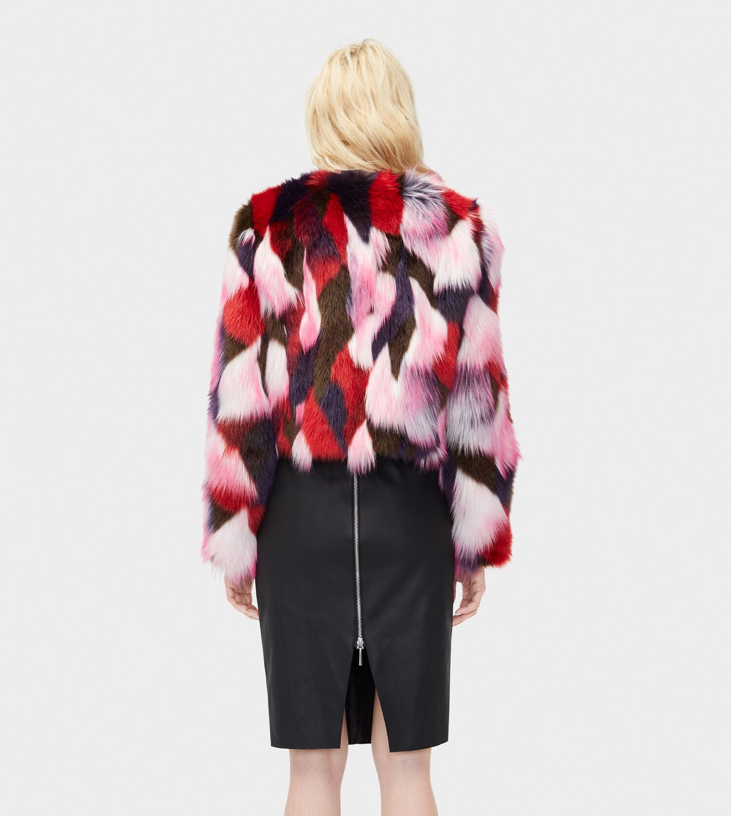 f1aefe73068e Zoom Lorrena Patchwork Faux Fur - Image 2 of 3