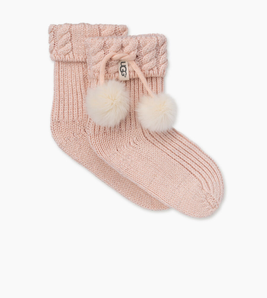 Rahjee Pom-Pom Rainboot Sock  - Image 1 of 2