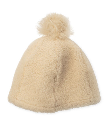 Exposed Curly Pile Beanie