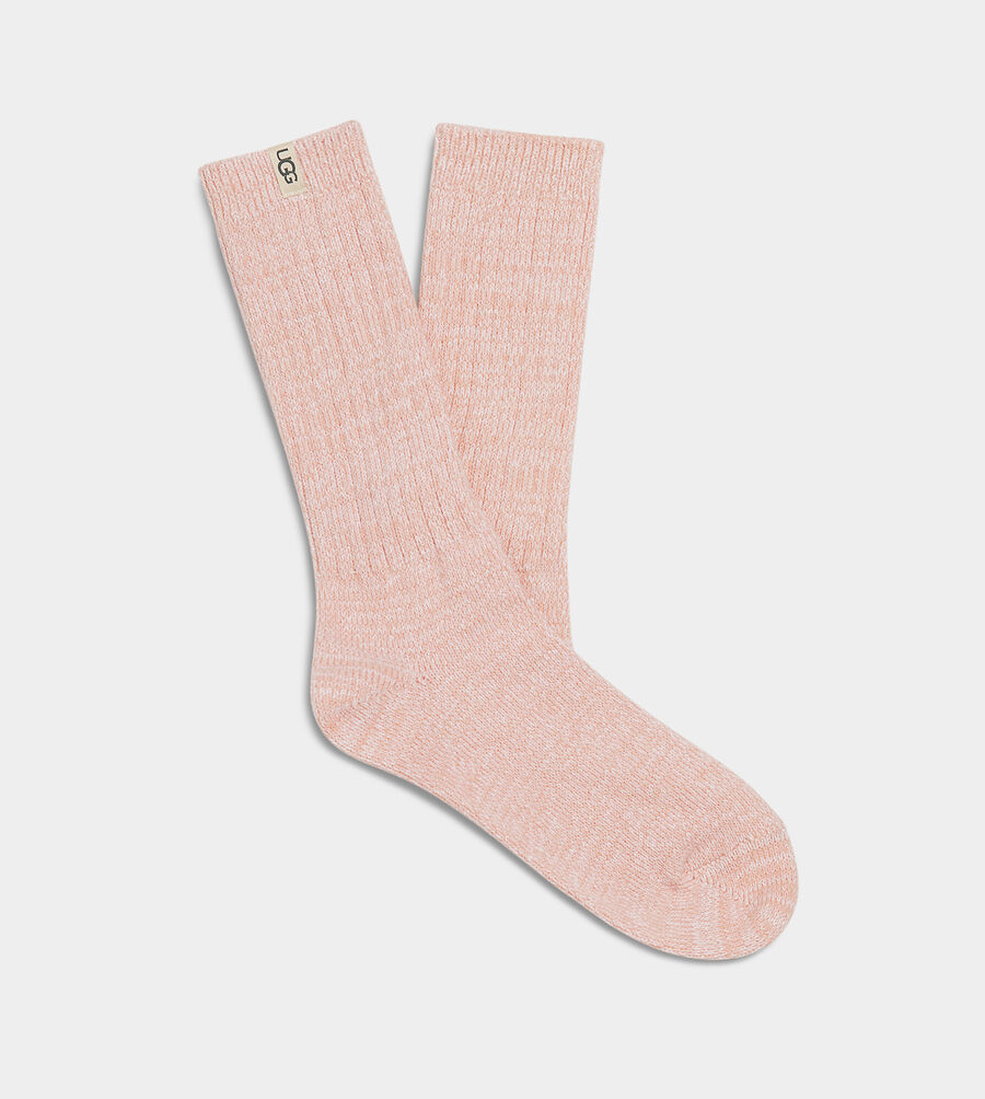 Rib Knit Slouchy Crew Sock - Image 1 of 2