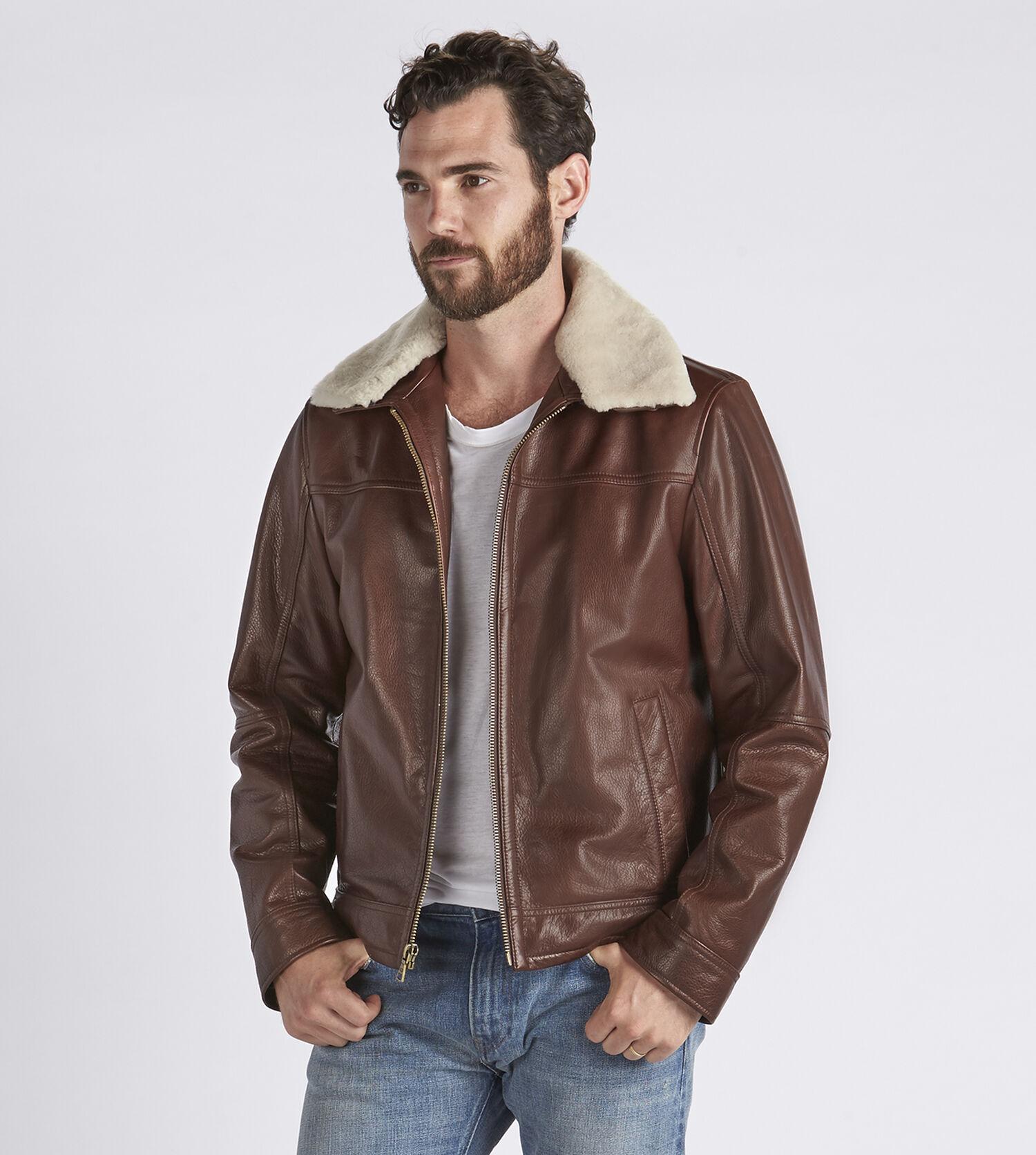 Aviatrix mens leather jacket
