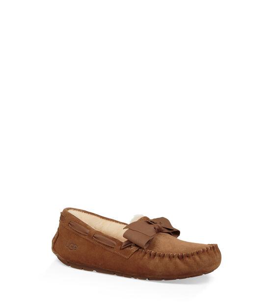 Dakota Leather Bow Slipper