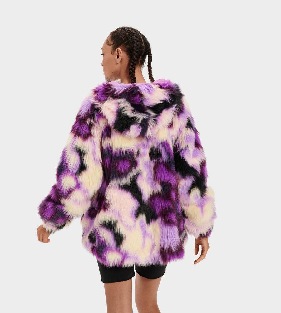 Clove Faux Fur Tie Dye Jacket - Image 3 of 5