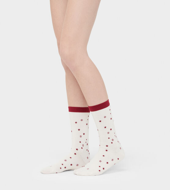 Merino Wool Star Crew Sock