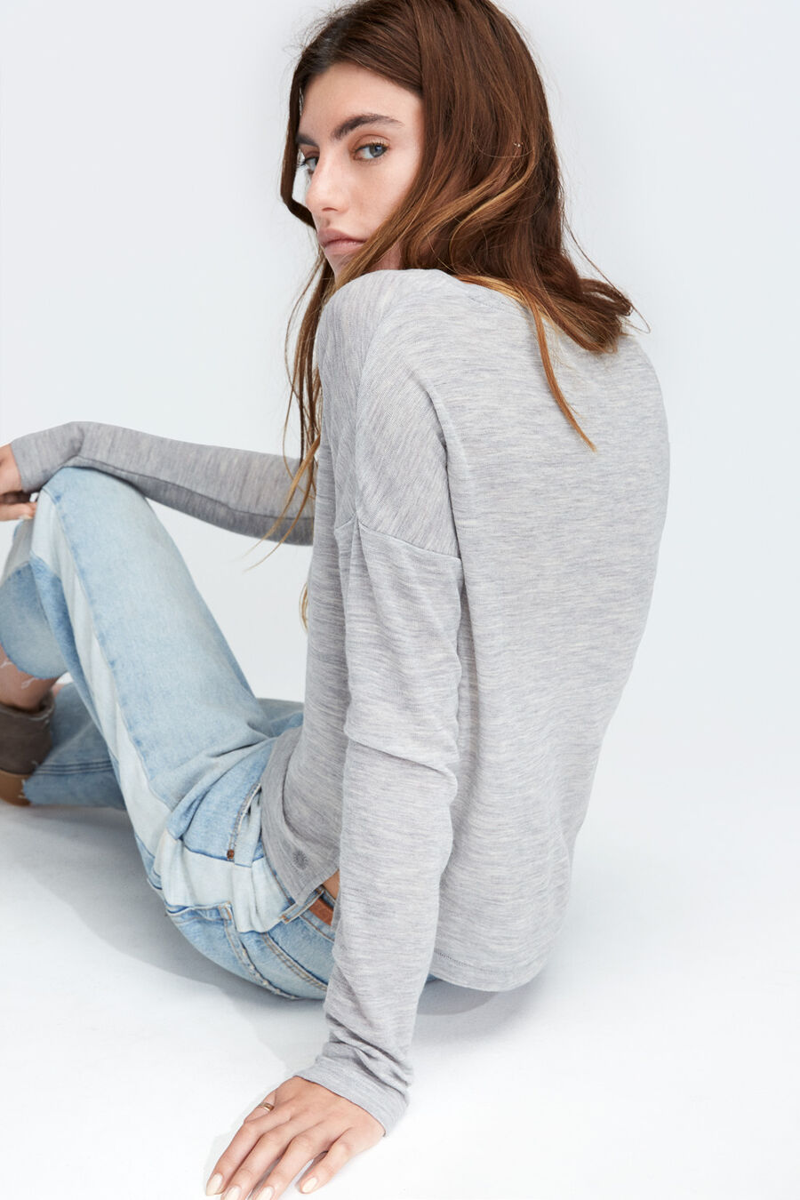Jersey Knit Long Sleeve Tee - Image 3 of 3