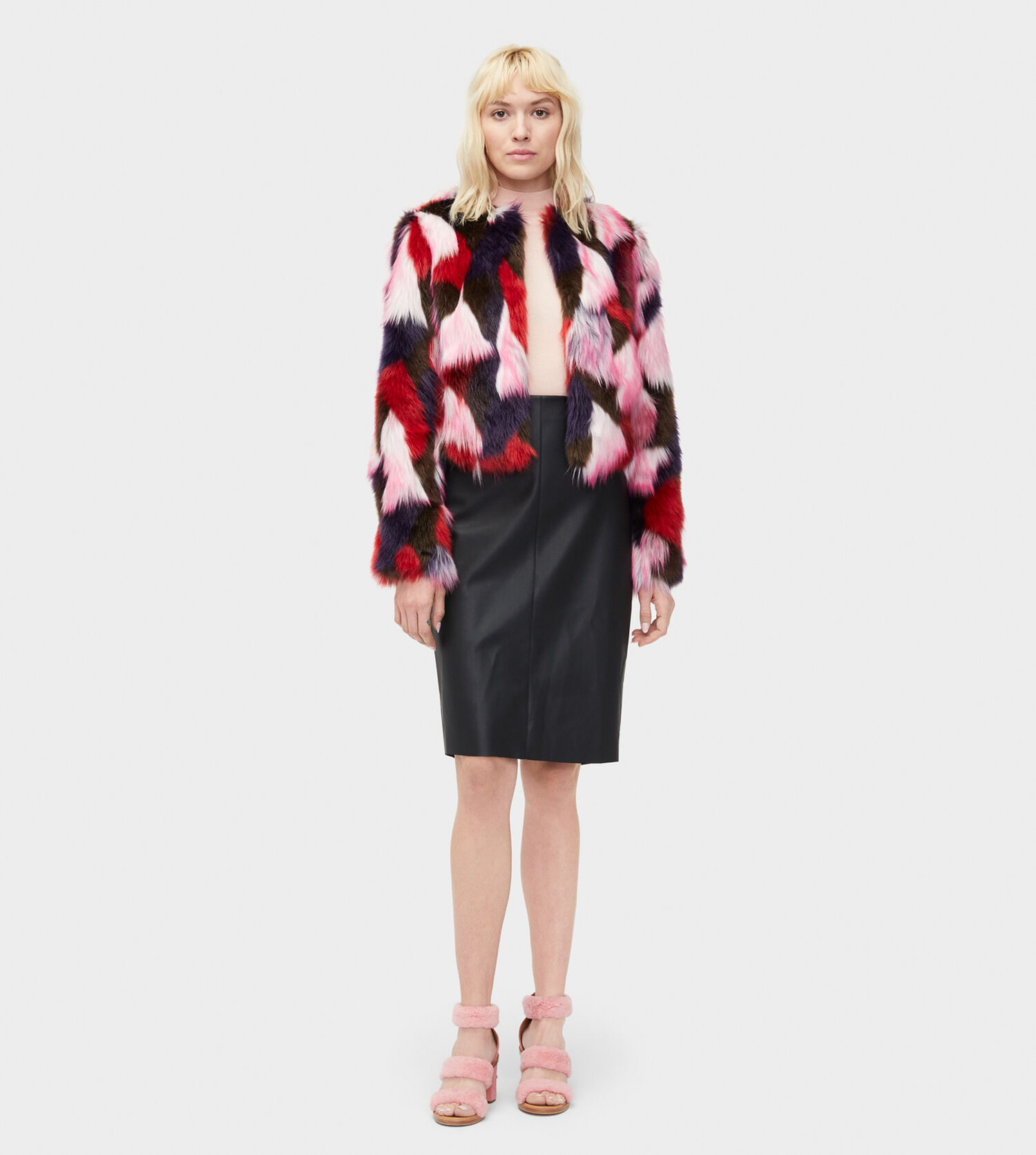 0e0b17713ac3 Zoom Lorrena Patchwork Faux Fur - Image 3 of 3