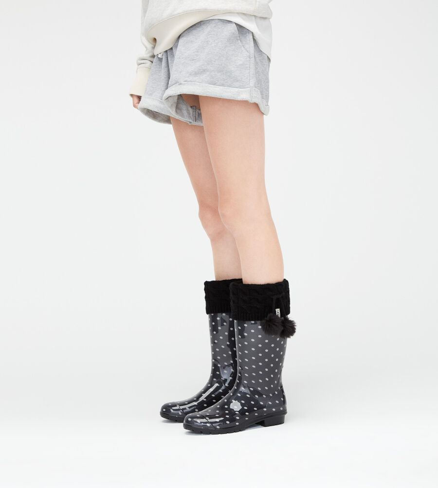 Pom Pom Tall Rainboot Sock - Image 4 of 4