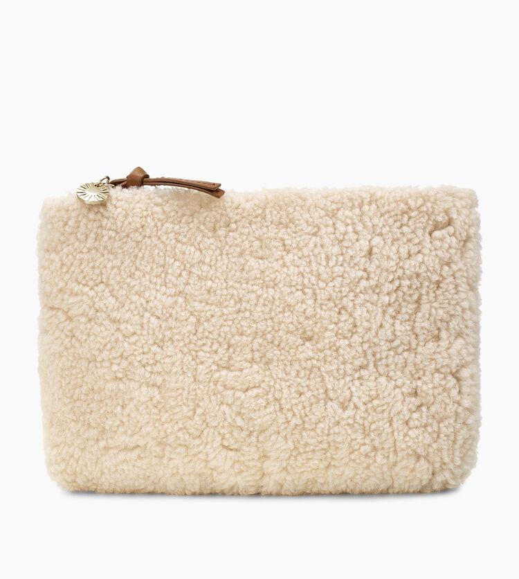 Medium Sheepskin Zip Pouch