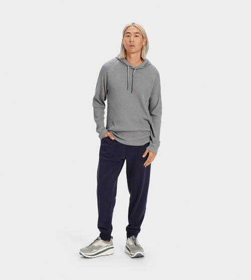UGG Men's Hank Fleece Joggers Cotton Blend In Blue, Size S Pants Crafted from lightweight double-knit fleece, this cozy jogger pant is perfect for any season. Wear it with our Gordon hoodie for weekend lounging. UGG Men's Hank Fleece Joggers Cotton Blend In Blue, Size S Pants
