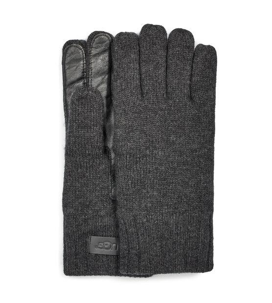 Knit Glove Leather Palm
