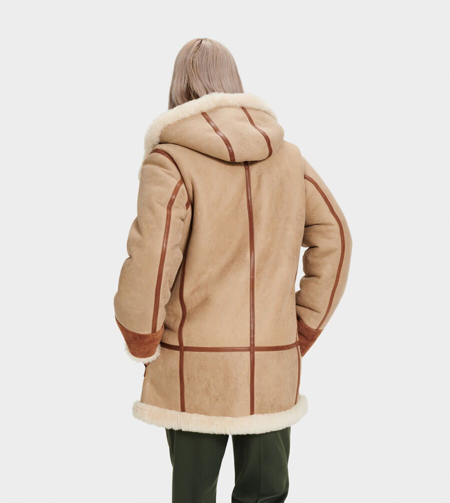 Yates Shearling Hooded Coat - Image 2 of 6