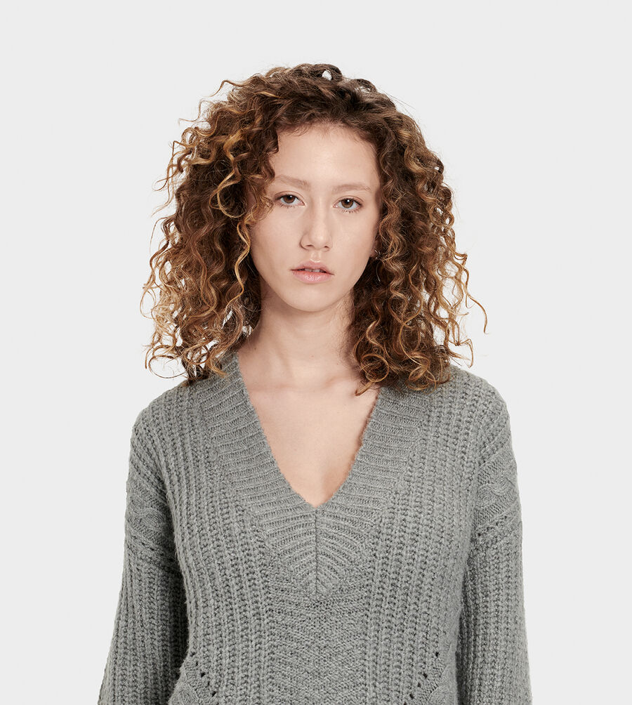 Alva Deep V-Neck Sweater - Image 4 of 6