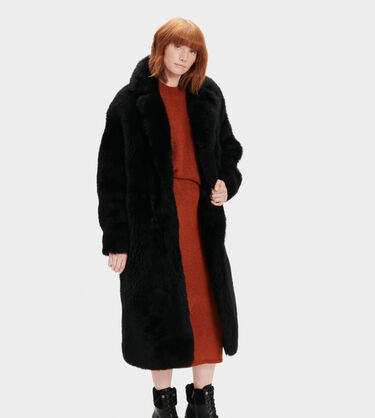 Esme Long Shearling Coat