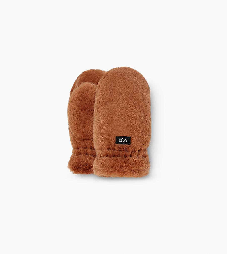 Faux Fur Mitten - Image 1 of 2