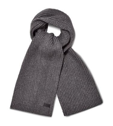 Ribbed Knit Stripe Scarf