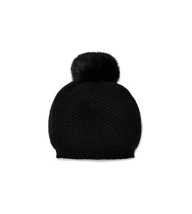 Aislinn Honeycomb Knit Pom Hat