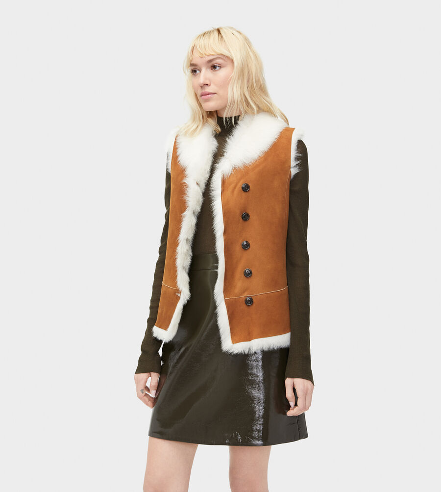 Renee Toscana Shearling Vest  - Image 1 of 5