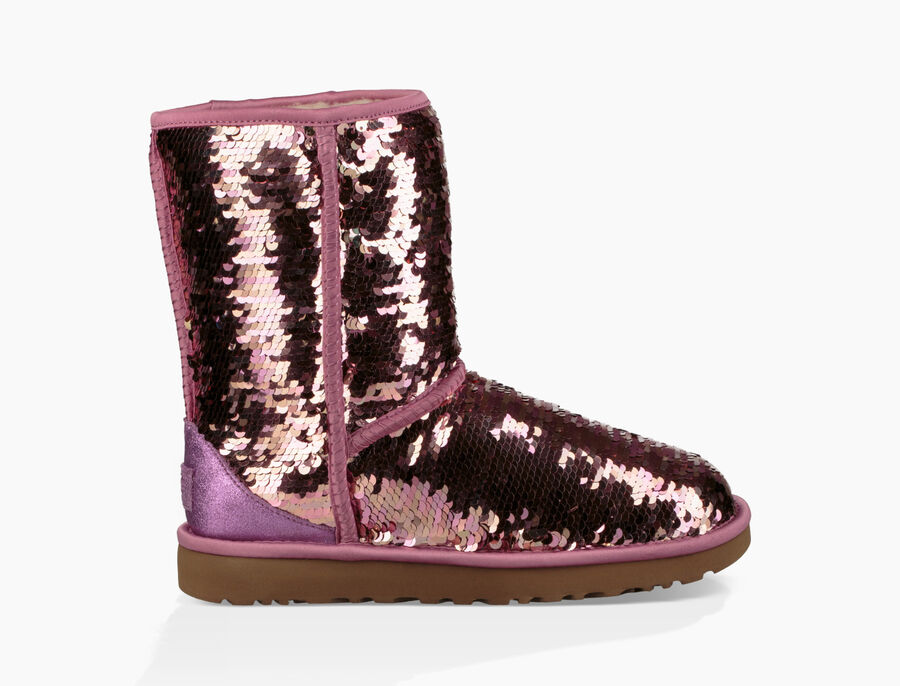 Classic Short Sequin Boot - Image 1 of 8