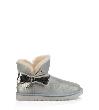어그 UGG Mini Sequin Bow Boot,SILVER