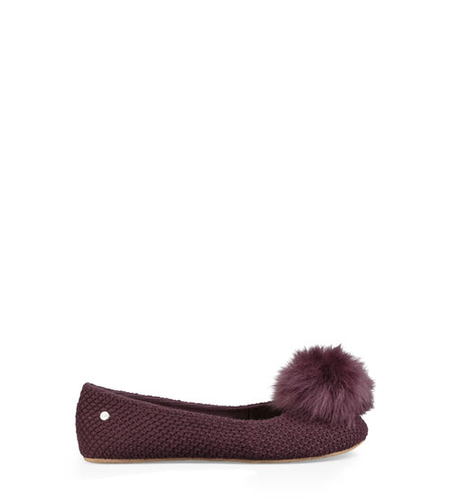 UGG Womens Andi Slipper Cotton Blend In Port, Size 7