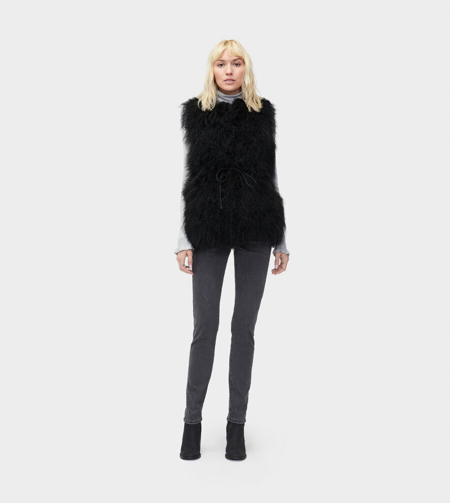 Abbey Mongolian Shearling Vest - Image 5 of 5