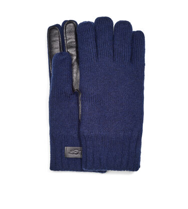 Knit Glove Leather Palm