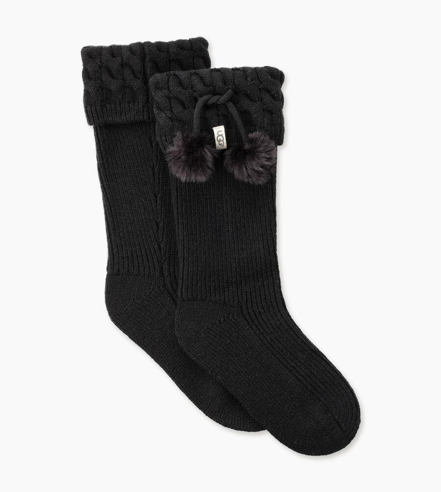 Pom Pom Tall Rainboot Sock - Image 2 of 4