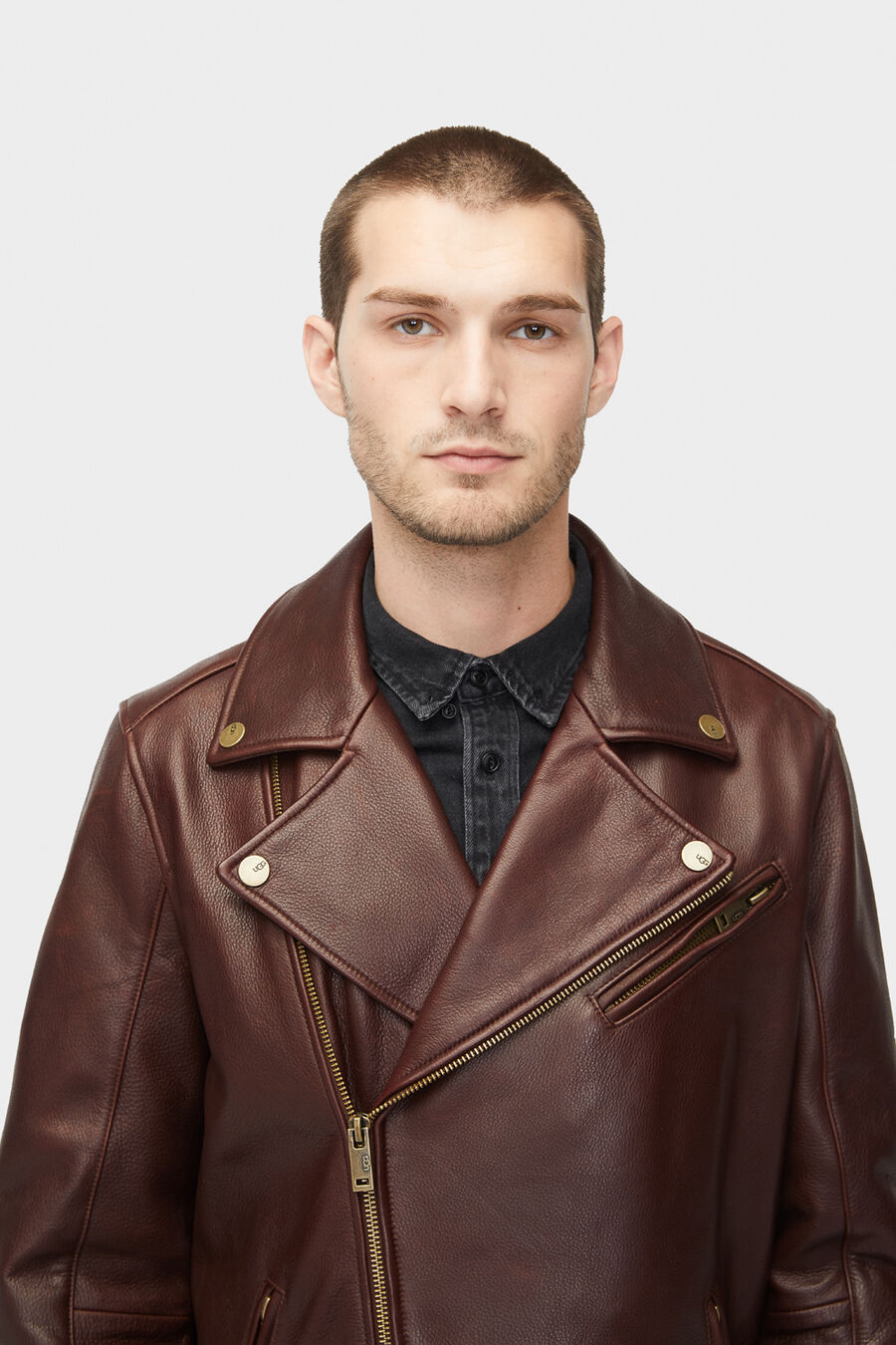 Vaughn Leather Moto Jacket - Image 6 of 6