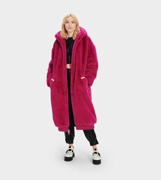 Koko Oversized Faux Fur Coat Ugg Us, Oversized Faux Fur Coat With Hood