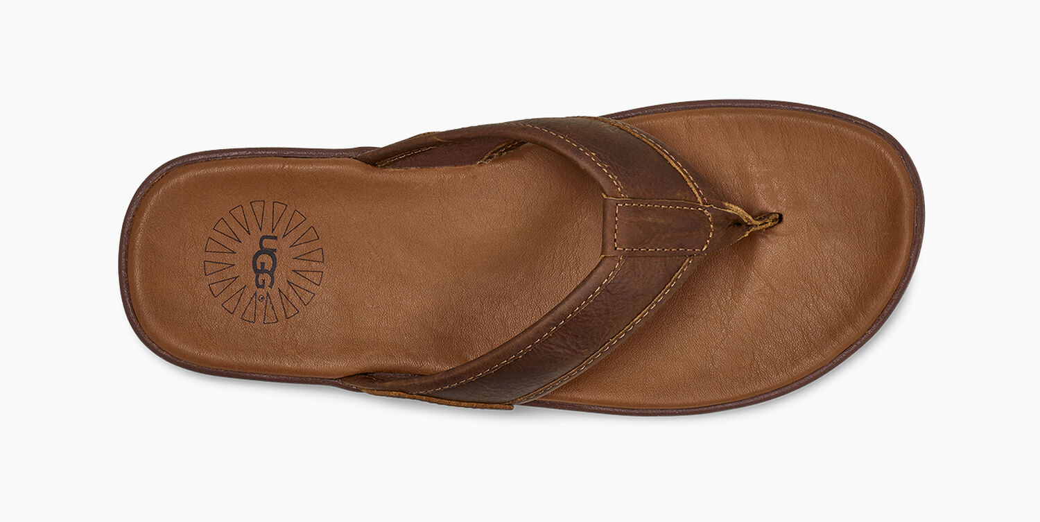 88b4a4f0e260ed Men's Seaside Leather Flip Flop | UGG® Official