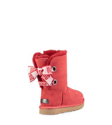 어그 UGG Customizable Bailey Bow Short Boot,RIBBON RED