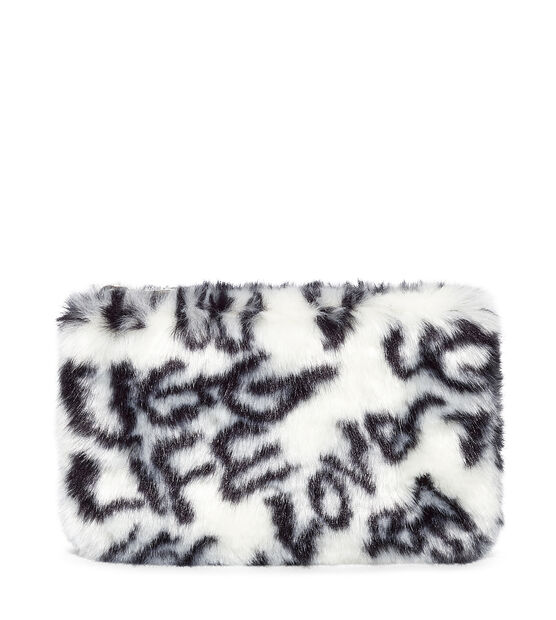 Small Zip Pouch Faux Fur