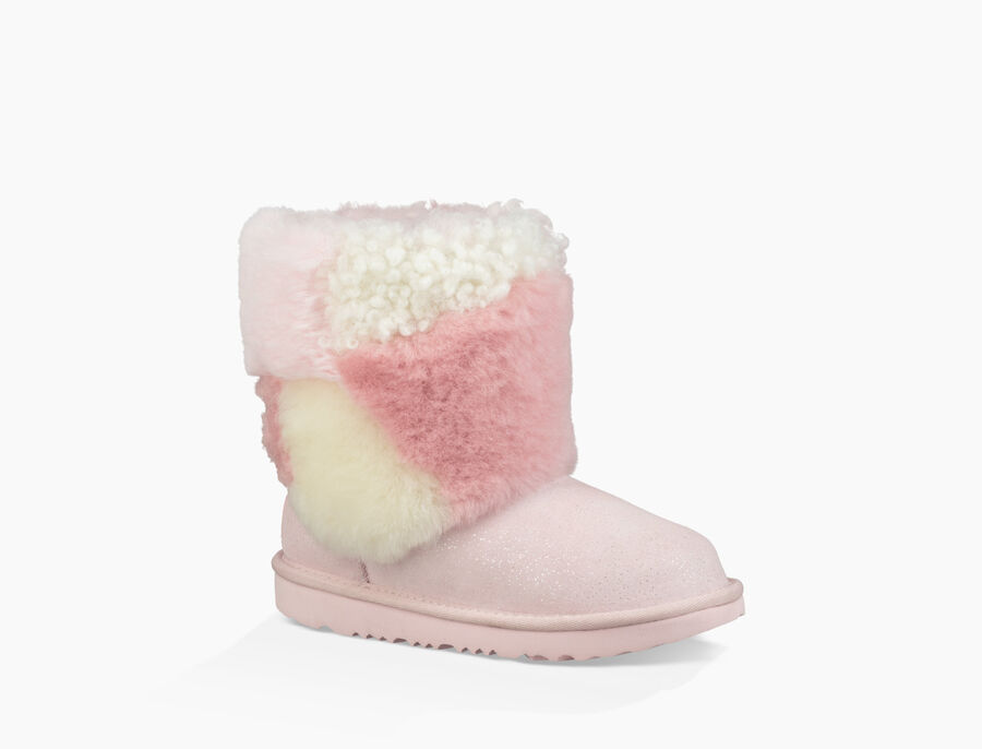 Classic Short Patchwork Fluff Boot - Image 2 of 6