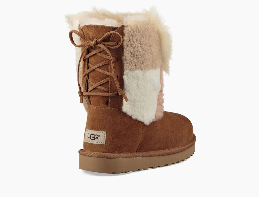 Classic Short Patchwork Fluff Boot - Image 4 of 6