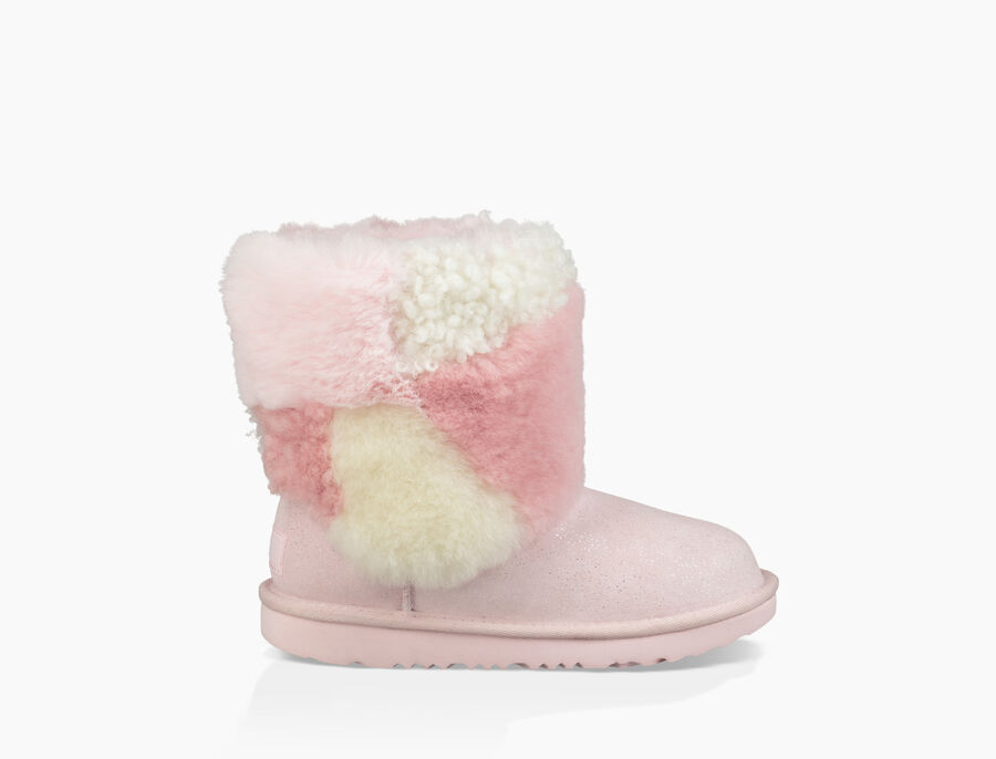 Classic Short Patchwork Fluff Boot - Image 1 of 6