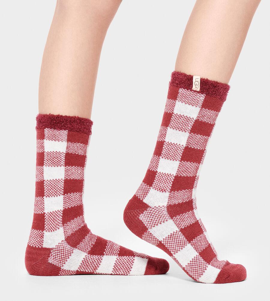 Vanna Check Fleece Lined Sock - Image 1 of 1
