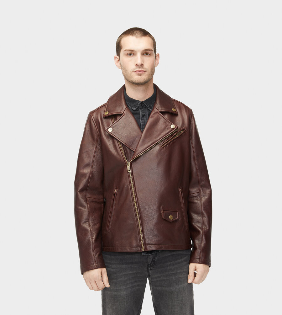 Vaughn Leather Moto Jacket - Image 3 of 6