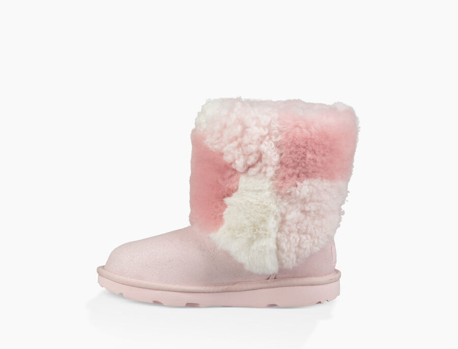 Classic Short Patchwork Fluff Boot - Image 3 of 6