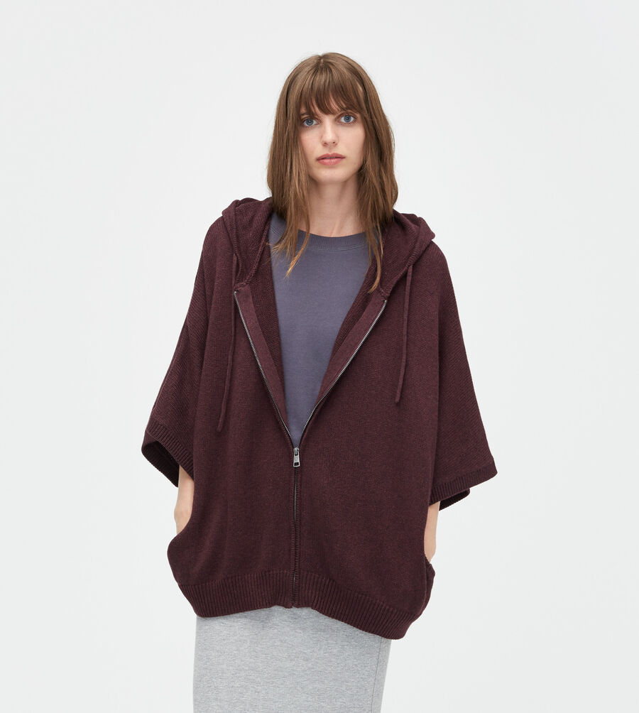 Zip Up Sweater Poncho 43