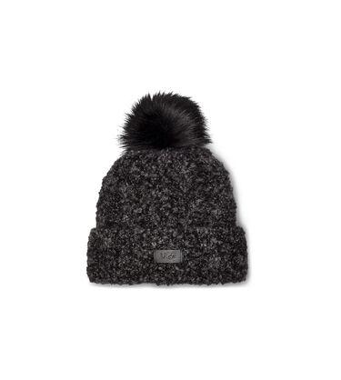 Boucle Knit Cuff Pom Hat Alternative View