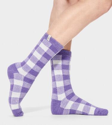 Vanna Check Fleece Lined Sock
