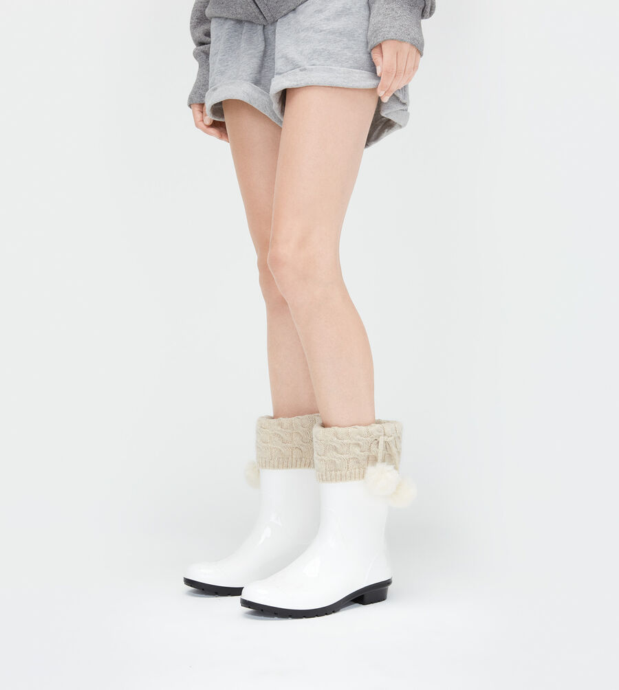 Pom Pom Short Rainboot Sock - Image 1 of 3
