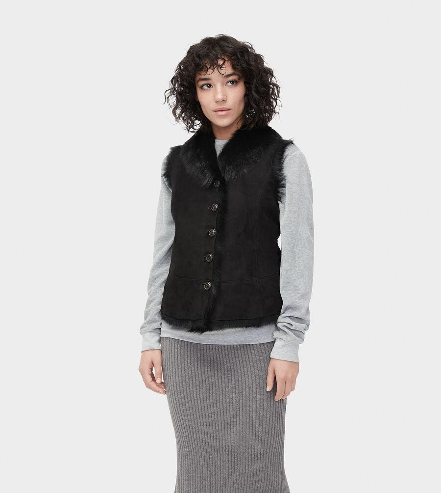 Renee Toscana Shearling Vest  - Image 3 of 6