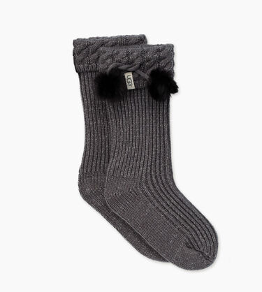 Raana Pom-Pom Rainboot Sock
