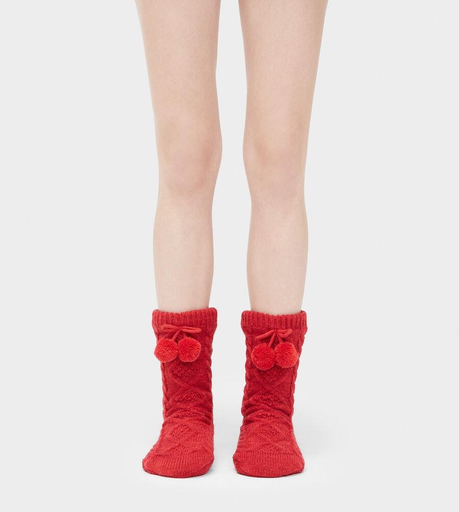 Pom Pom Fleece Lined Crew Sock - Image 1 of 2