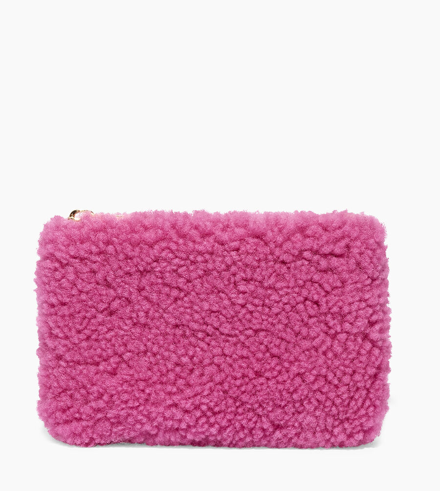 Sheepskin Small Zip Pouch  - Image 1 of 5