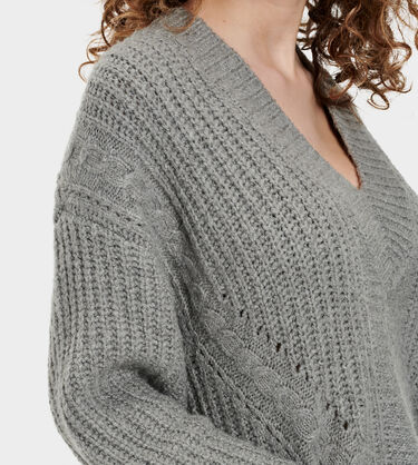 Alva Deep V-Neck Sweater Alternative View